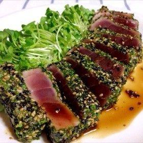 chamuscado sabor perfecto ☆ puntuación de algas de sésamo pasta de atún