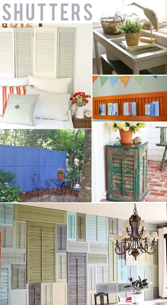 Shut the front Shutters!!! The wall of shutters is very Chic!
