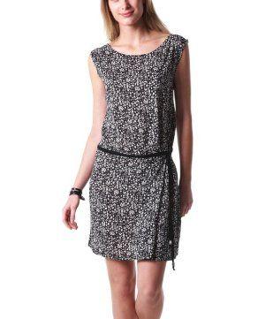 Vestido estampado estampado negro - Promod