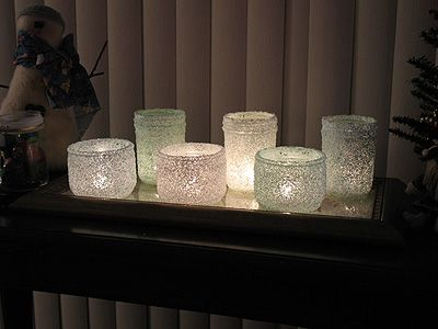 Epsom Salt Luminaries: Some Winter Beauty  Dec  17  By Amanda | ADULT CRAFTS, Christmas, HOLIDAY CRAFTS, Home Decor, Winter    epsom salt luminaries - copyright Crafts by Amanda    Recently I've seen a few crafty ideas around the internet using epsom salts, but I wanted to come up with something different. I've been itching to make some new luminaries, something that would be elegant and pretty against winter's white snow. Something that says Christmas, but isn't limited to the holiday. So