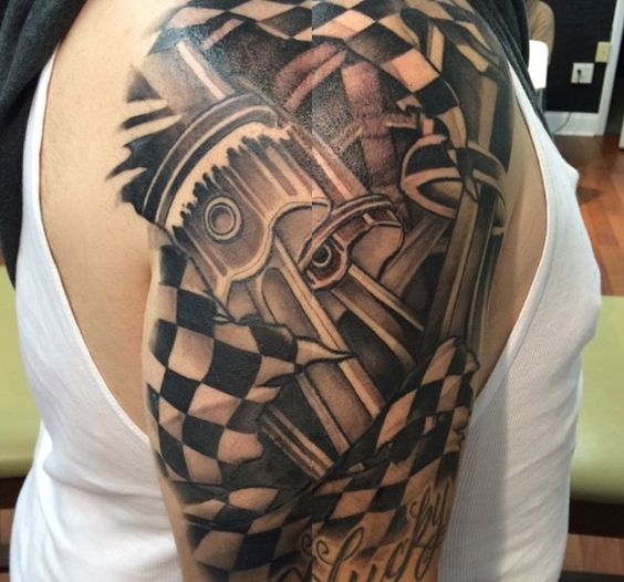 Piston tattoo