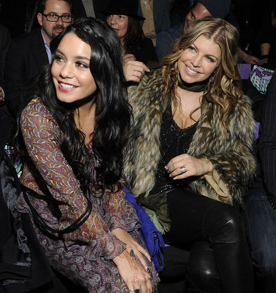 Celebrities at Fashion Week stunning looks Vanessa and fergie
