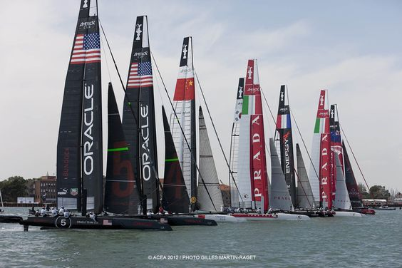 Race Day 2: America S Cup, 2012 Venice, 34Th America S, Cup America S, Sailboat Racing, 2012 Racing, Yacht Racing Sailboats
