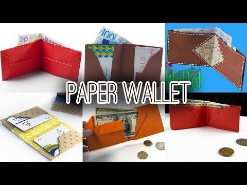 6 Best Paper Wallet Diy Origami Wallet Youtube