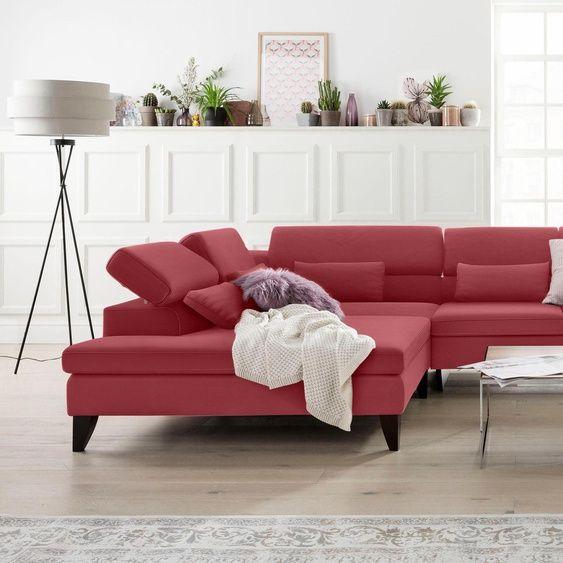 Gallery M Eckcouch Felicia Rot Echtleder 5 Jahre Hersteller Garantie In 2020 Ecksofas Sofa Couch