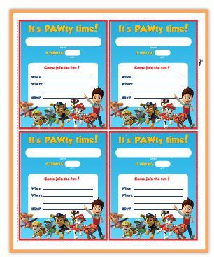 Paw Patrol Free Printable Invite | BirthdayIdeas | Pinterest | Paw ...