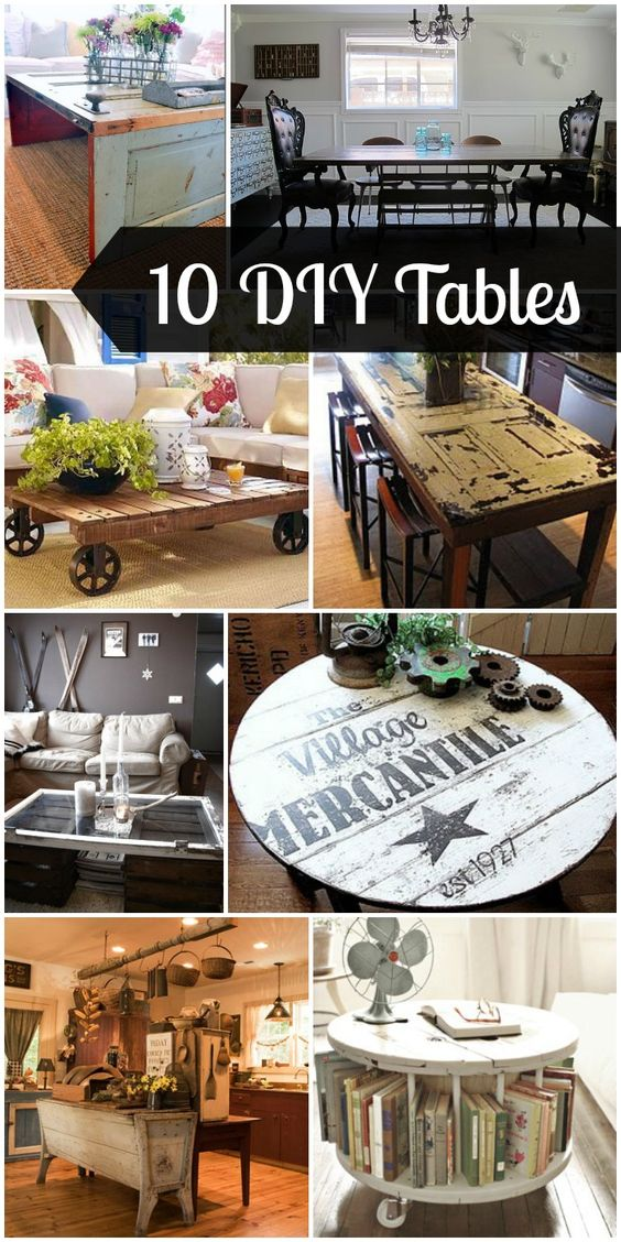 10 DIY Tables sure to inspire if you are considering making your own table! { lilluna.com }