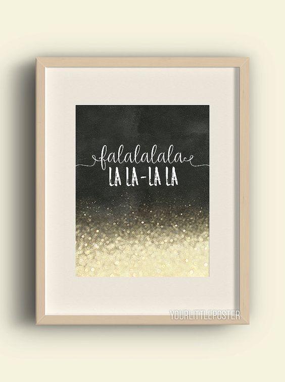 Fa la la la la  Printable Christmas wall art by YourLittlePoster