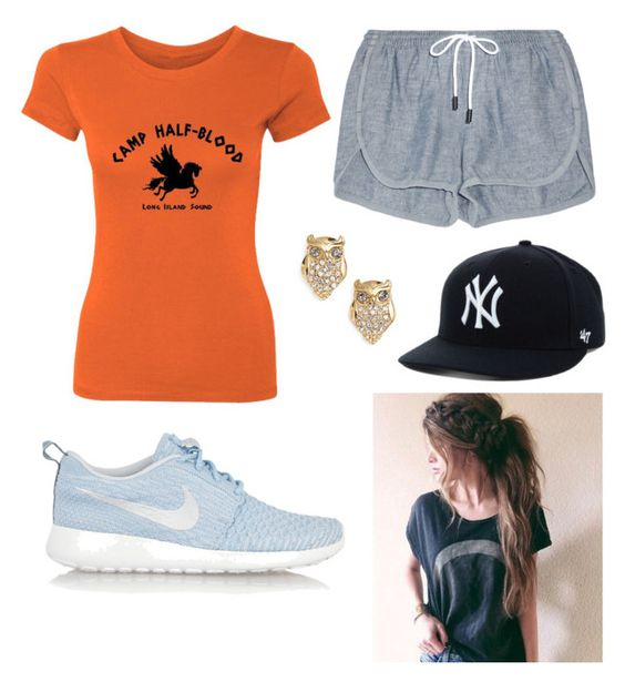 """""""Annabeth Chase"""" by dara-fitzgerald ❤ liked on Polyvore featuring rag & bone, NIKE and Kate Spade"""