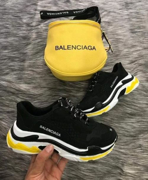 Balenciaga Balenciaga Track white orange Grailed