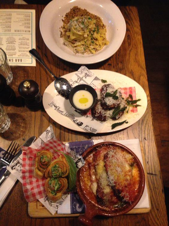 Sunday lunch in Jamie Oliver's Italian restaurant #jamie oliver #italian #food