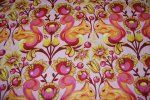 Tula Pink Birds and Bee's Squirrel Animal Damask Hot Pink Orange Sunny Yellow  Funky Cotton Fabric CR124
