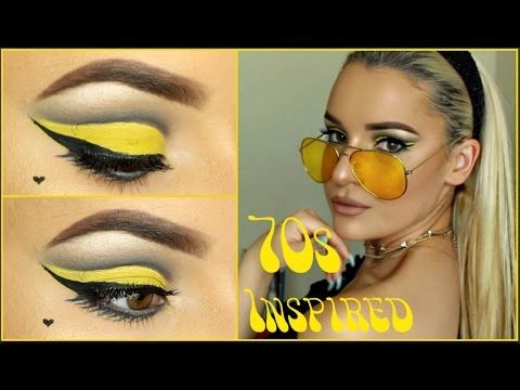 Yellow 60s 70s Inspired Makeup Tutorial Youtube With