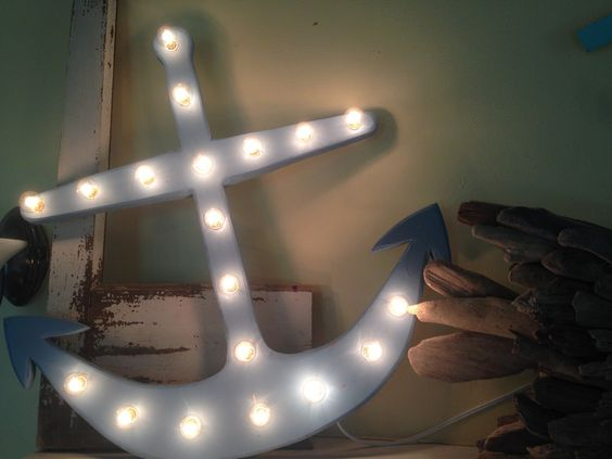 Sweet Lighted Marquee Anchor!