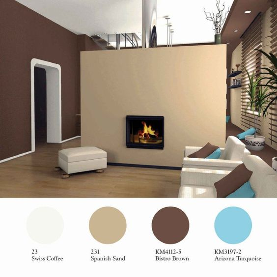 Wall color combination paint colors and benjamin moore on - Accent colors for brown walls ...