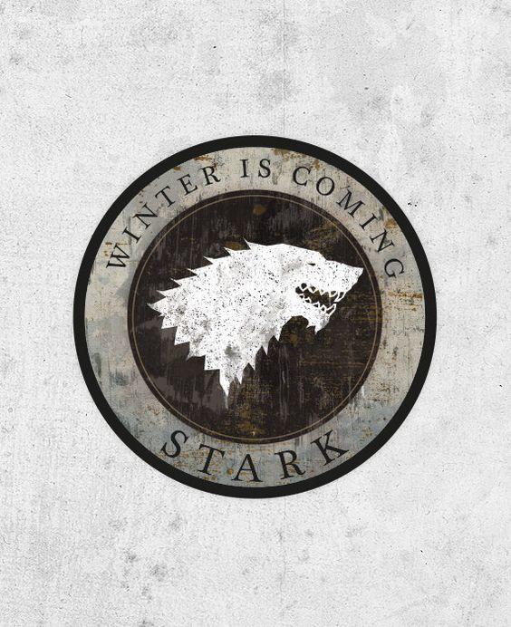 Game of thrones #winteriscoming #stark