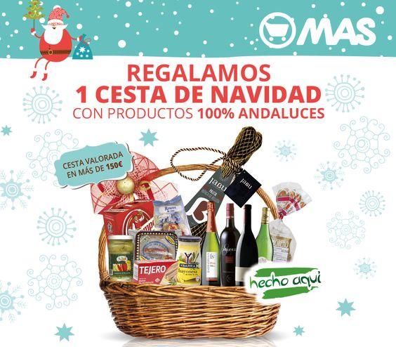Regalamos 76 cestas de Navidad a nuestros clientes! Y con productos 100% andaluces: http://bit.ly/SorteoCestasNavidad