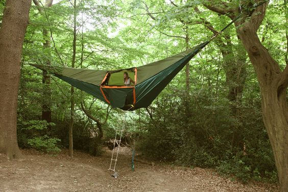 The Tentsile tent is being called the world´s most versatile tent, it was designed by Architect and treehouse designer, Alex Shirley-Smith. Tentsile combines the comfort and versatility of a hammock with the usable space and security of a tent. See more photos here  http://www.tentsile.com/gallery.html