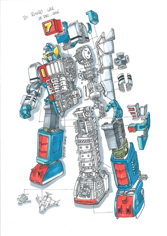 大鉄人17 シグコンタンク 大鉄人17 結構圖彩版 レトロ レトロな広告 図解