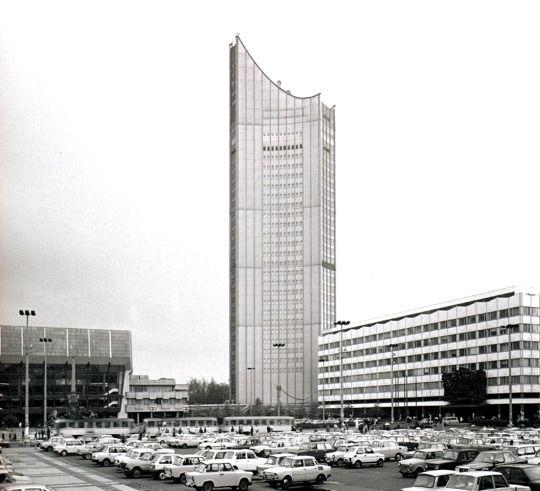 hermann henselmann - turm der universität leipzig, 1968-72