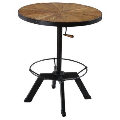 Reual James Palisades Adjustable Height Pub Table