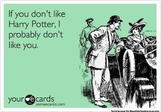 If you don't like Harry Potter, I probably don't like you.