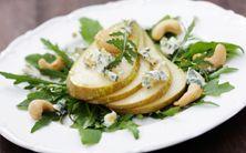 salada de rúcula com pera e castanha de caju - 5