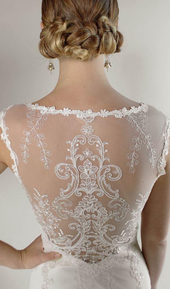 Romantique by Claire Pettibone Bel Air Lace Wedding Dress