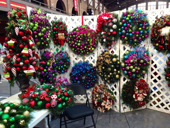 christmas craft fair ideas diy wreath displays for craft shows the craft booth 3571