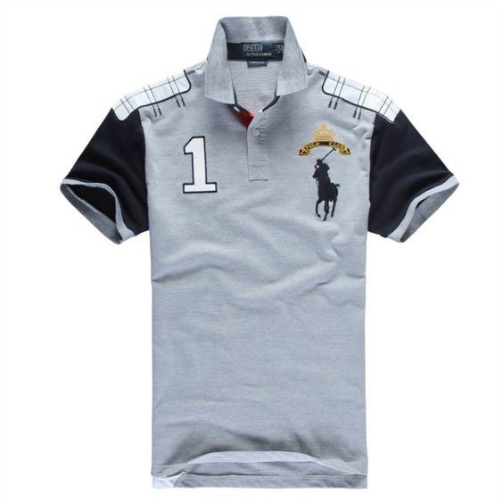 Ralph Lauren Men\u0026#39;s No.1 Club Short Sleeve Polo Shirt Grey http://