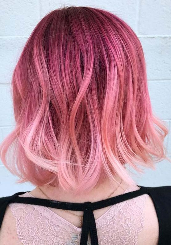 56 Best Hair Colors For Short Hair Hairstyles Pool Mermaid Hair Color Peach Hair Peach Hair Colors