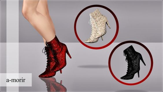 Crystal Ankle Boots by ArtSims - Sims 3 Downloads CC Caboodle  Check more at http://customcontentcaboodle.com/crystal-ankle-boots-by-artsims/
