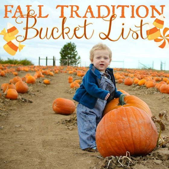 Fall Tradition Bucket List! This is tailored for a mom but I still want to do all of these activities.