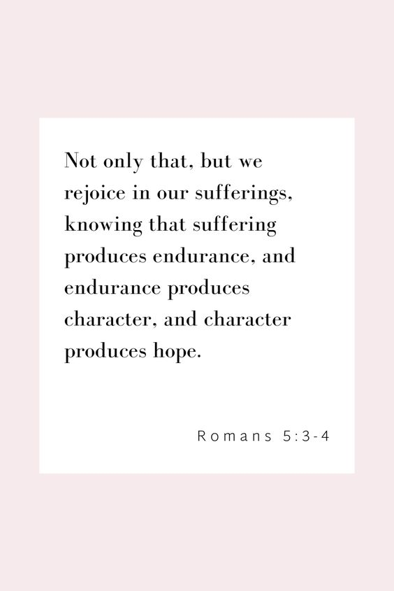 "32 Bible Verses About Joy ""Not only that, but we rejoice in our sufferings, knowing that suffering produces endurance, and endurance produces character, and character produces hope."" Romans 5:3-4 #bibleverses #thepreachersporch #shereadstruth #soulscripts #biblestudy #verseoftheday #dailybibleverse #scriptureart #Bibleverse #Jesus #christian #truth #Godlovesyou"