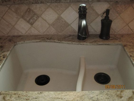 Small Marble Sink : Sink shape? Swanstone QULS-3322 Granite Large/Small Bowl Kitchen Sink ...