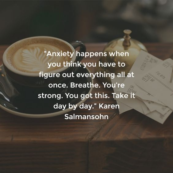 Image result for karen salmansohn anxiety happens when you think