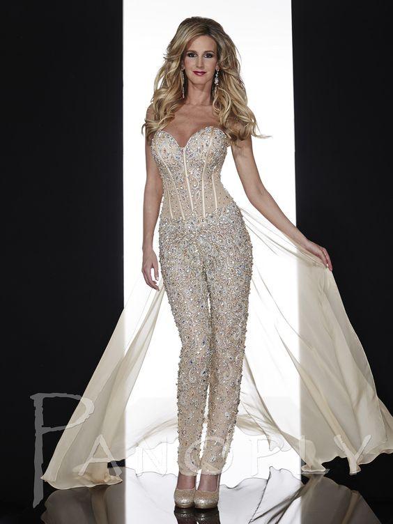 Panoply 14607, Sexy corset dress, evening pants suit | Wedding