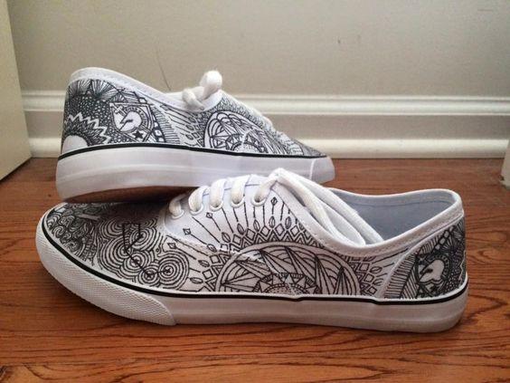 geometric #vans #drawing #shoes #sharpie #geometric #design