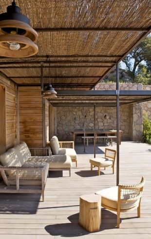 Bambou idee Balcone : ... Terrasse & balcon // Terrace and balcony Pinterest Deco