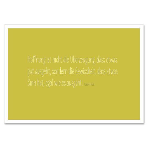 Typokarte »Hoffnung« http://dickoepfig.ch/produkt/typokarte-hoffnung/ #hoffnung