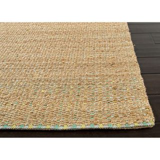Handmade Naturals Solid Pattern Green Rug (8' x 10') | Overstock.com
