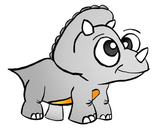 triceratops cute royalty free dinosaur cartoon clipart