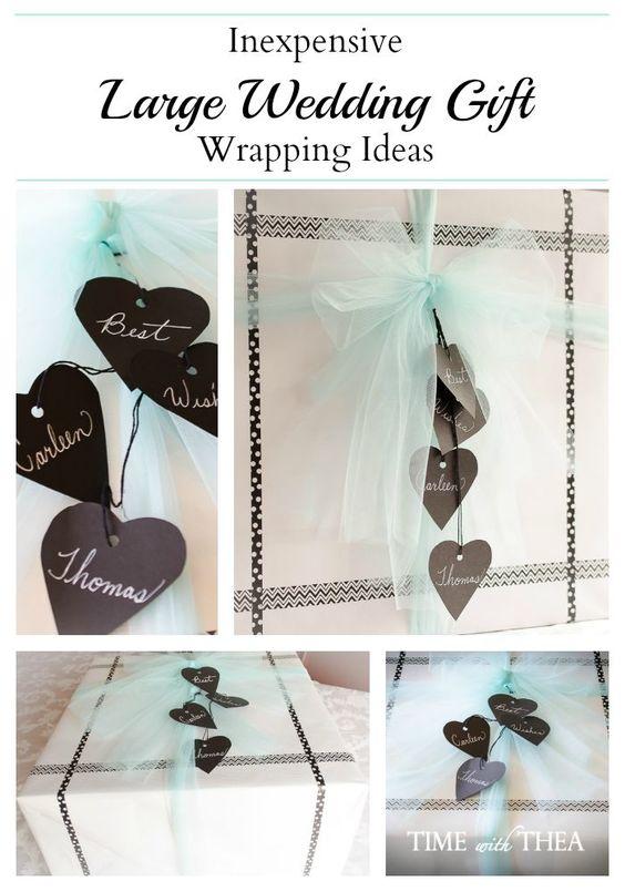 Wedding Gift Wrapping Ideas : Large Wedding Gift Wrapping Ideas ~ Wrapping a large wedding gift ...