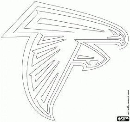 Logo For Atlanta Falcons American Football Team From The Nfc South Division Atlanta Georgia Coloring Page Nfl N Atlanta Falcons Logo Nfl Teams Logos Nfl Logo