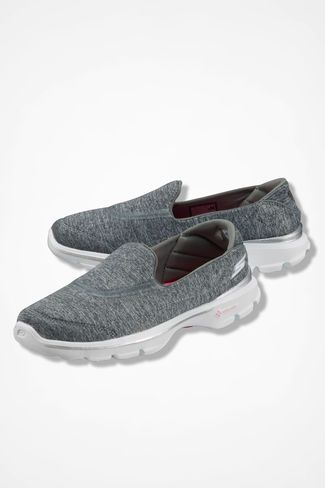 """""""Go Walk 3"""" Sneakers by Sketchers®, Grey I own some of these and they are AMAZINGLY COMFORTABLE and rather stylist when on...."""