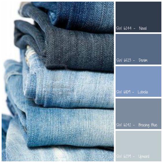 Light Blue Denim Paint Color