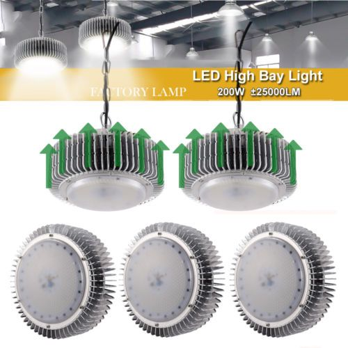5x 200w Led High Bay Light Warehouse Industrial Factory Lamp Roof Shed Lighting Ebay Link High Bay Lighting Workshop Shed Light