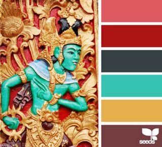 Jewel Tones - color palette - bright & vivid.  look great in photos.