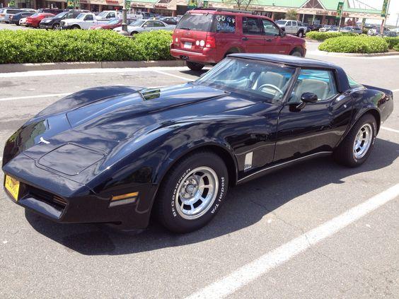 1980 Black Corvette Corvettes Pinterest Corvettes