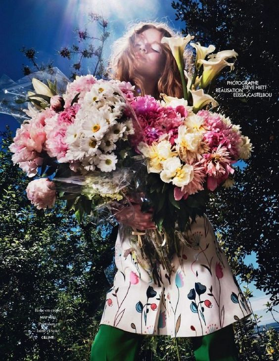 Bloom-Inspired Style From Elle France | PHOTO: Steve Hiett For Elle France // #fashion #editorials: